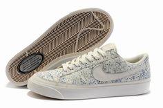 Nike Blazer Basse Prm Bianco Scarpe Da Donna