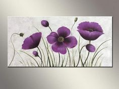 flower art painting on sale at reasonable prices, buy Easy flower paintings without frame from mobile site on Aliexpress Now! Easy Flower Painting, Easy Canvas Painting, Fabric Painting, Flower Art, Canvas Wall Art, Flower Frame, Art Floral, Floral Artwork, Art Deco Paintings