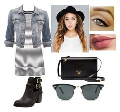 """""""Lunch date outfit 1❤️"""" by victoriamajors ❤ liked on Polyvore featuring Theory, Prada, Wet Seal, maurices and Ray-Ban"""