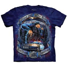 Looking for a new awesome graphic t-shirt? Try the Backbone Of America Police T-Shirt on for size! Shop THE MOUNTAIN website for the largest and coolest selection of USA and Americana t-shirts online. Police Shirts, Vintage Music, Tshirts Online, Classic T Shirts, Graphic Tees, Marvel, America, Mens Tops, Mountain