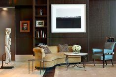 Darcy Bonner Associates LLC - Chicago Residence - velvet sofa