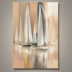 Abstract Sail boating