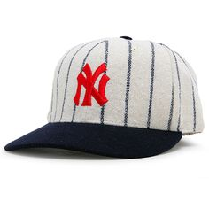 77eb0aead8ba2 New York Yankees Natural Pinstripe 1915 Throwback Cooperstown Fitted Hat