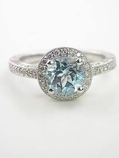 Antique Aquamarine ring, my birthstone