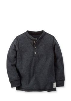 Carters  Solid Henley Tee Toddler Boys