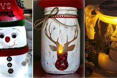 16 adorables façons de décorer les pots Masson pour le temps des Fêtes!