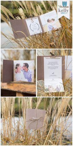Trouwkaart van Hans en Lisanne door Kellyfoto's #trouwkaart #bruiloft #trouwen #kaart #ontwerp #rustig #foto #craft #creme #design #wedding #invitation #rustic #loveshoot #photo