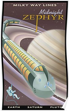 Saturn Travel Poster Posters