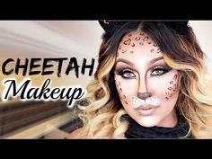 Cheetah Makeup ♡ Halloween Tutorial - YouTube