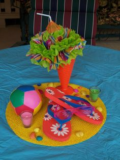 Pool Party Centerpiece Ideas pool party ideas blog pool party invitations ideas Pool Party Centerpiece