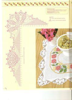Gallery.ru / Фото #59 - COZINHA - nnetthynunes Crochet Borders, Crochet Diagram, Crochet Chart, Thread Crochet, Crochet Trim, Filet Crochet, Crochet Motif, Crochet Doilies, Crochet Lace