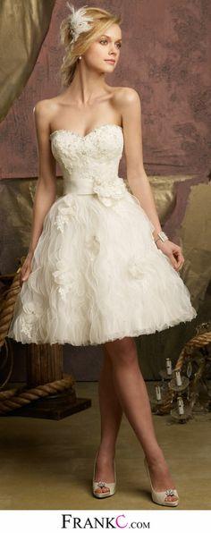 sweetheart wedding dress,short wedding dress