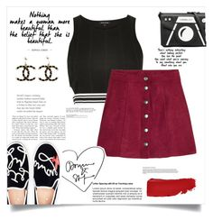 """Untitled #64"" by fantasticbabe ❤ liked on Polyvore featuring River Island, Karl Lagerfeld, H&M, Chanel and Kate Spade"