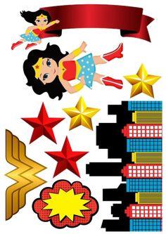 Wonder Woman Birthday, Wonder Woman Party, Happy 40th Birthday, Girl Birthday, Diy Party Decorations, Party Themes, Girl Superhero Party, Girl Themes, Party In A Box