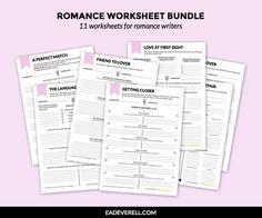 Romance worksheets