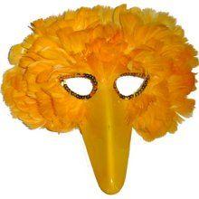 Mask It 48210 Feather Yellow Bird Mask Chicken Costumes, Alice In Wonderland Costume, Bird Masks, Puppet Crafts, Daily Pictures, Jim Henson, Big Bird, Diy Mask, Halloween Costumes