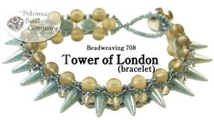 """Tower of London"" Bracelet  -what to with those spikes ~ Seed Bead Tutorials"