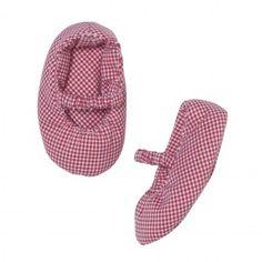 Troizenfants Chaussons bébé Vichy rouge