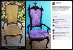 Haunted Mansion-themed chair re-do! Awesome!