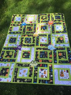 This custom monster baby quilt was ordered by Sara for a baby gift.