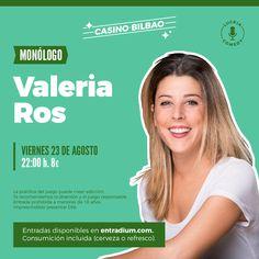"""(Bizkaia) Luckia Casino Bilbao. """"VALERIA ROS"""". Monólogo. Bilbao, Entertainment"""