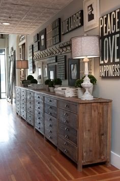 side board decor this is a great idea and talk about storage