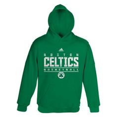 adidas Boston Celtics Youth Up Strong Hoodie - Kelly Green