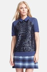 kate spade new york 'milo' sequin short sleeve sweatshirt available at Nordstrom.