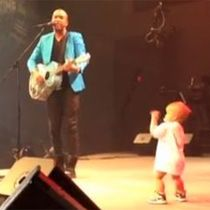 WATCH: Dancing baby steals the show during dad's concert | National News - 102.1 WDRM - Call Us At 1-866-302-0102