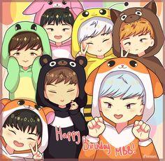 Monsta x by Monsta X Shownu, Jooheon, Hyungwon, Kihyun, K Pop, Kpop Fanart, Starship Entertainment, G Dragon, Cute Art