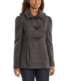 Love this Charcoal Hooded Toggle Coat by Yoki on #zulily! #zulilyfinds