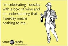 Celebrate Tuesday with a Box of Wine #winehumor