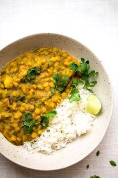 yellow split pea, kale, and potato curry