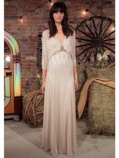 The Most Breathtaking Wedding Dresses From Bridal Fashion Week- ellemag Jenny Packham Top Wedding Dresses, Wedding Dress Trends, Boho Wedding Dress, Bridal Dresses, Wedding Gowns, Jenny Packham Bridal, Bridal Fashion Week, Glamorous Wedding, Unique Dresses