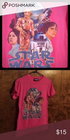 Junk food Star Wars tee HOT pink size XL Junk Food Star Wars tee size XL- seems to run small more like a M or fitted L. Hot pink never worn must for any Star Wars fan! Junk Food Tops Tees - Short Sleeve