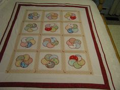 Single Size Quilt  Overlapping Circles