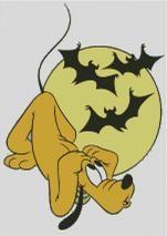 Cross Stitch Chart of Plutos Halloween Bats