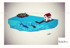 My World- Digital illustration  Artist- Nikita Mathur