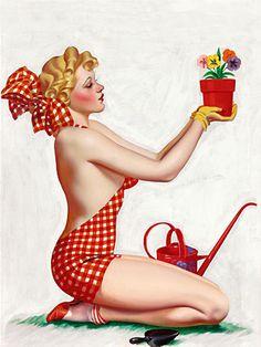 Beautiful vintage gardening pinup  http://vintagevenus.com.au/products/vintage_poster_print-pp488