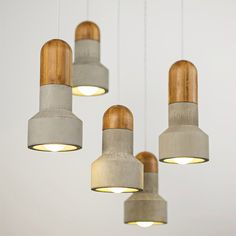 Concrete & Bamboo Pendant by Bentu Design available at www.suchandsuch.co in our lighting collection