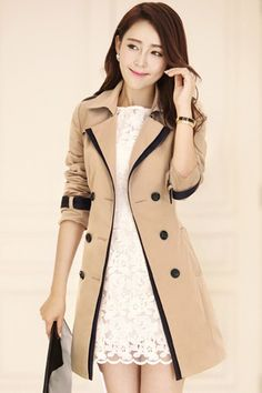 Trench coat bege/caramelo