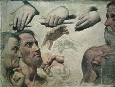 Dominique Ingres - Study of Heads and Hands for the Apotheosis of Homer