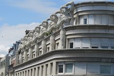 Beautiful Parisian architecture viewed from the Promenade Planteé