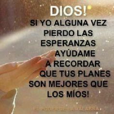 El mejor plan es el de Dios