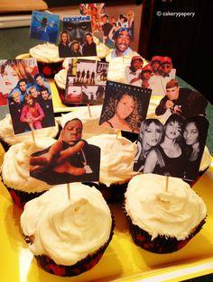 DIY 90s Cupcake Flags