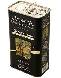 Amazon.com : Colavita Premium Italian Extra Virgin Olive Oil Tin, 101.4 Ounce : Grocery & Gourmet Food Extra Virgin Oil, Gourmet Recipes, Olive Oil, Coffee, Drinks, Tin, Packaging, Amazon, Food