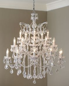 Maria Theresa Large Chandeliers at Neiman Marcus.