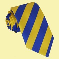 Yellow Royal Blue Stripes Formal Boys Ages 7-13 Wedding Straight Boys Neck Tie