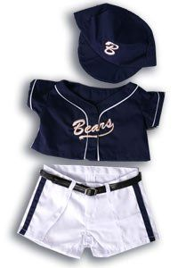 "Baseball Uniform Outfit Teddy Bear Clothes Fit 14"" - 18"" Build-A-Bear, Vermont Teddy Bears, And Make Your Own Stuffed Animals, 2015 Amazon Top Rated Stuffed Animal Clothing & Accessories #Toy"