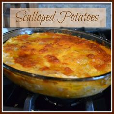 Scalloped Potatoes, I layered this with broccoli, added a meat...AWESOME!